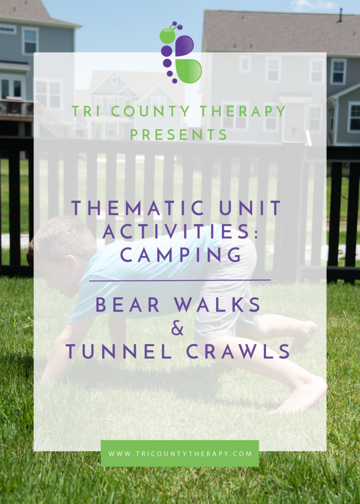 Camping Thematic Unit: Bear Walks & Tunnel Crawls