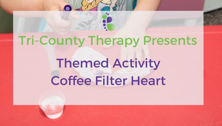 Valentine's Day Craft: Coffee Filter Heart